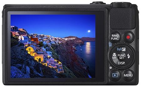 Canon PowerShot S120 - zadní stěna s dotykovým displejem