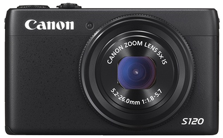 Canon PowerShot S120 zepředu