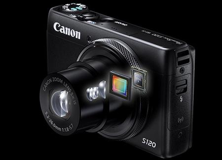 Canon PowerShot S120 - průhled do nitra