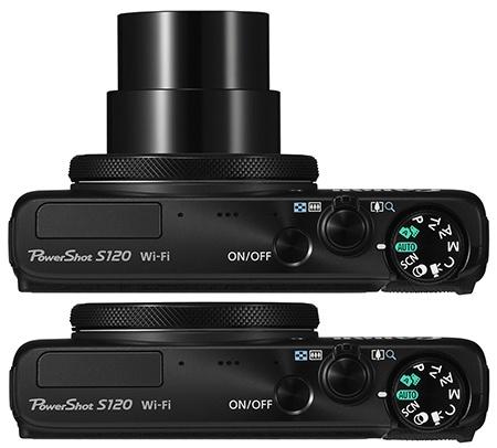 Canon PowerShot S120 shora
