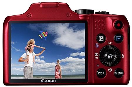 Canon PowerShot SX170 IS - displej