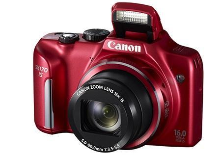 Canon PowerShot SX170 IS - vyklopený blesk