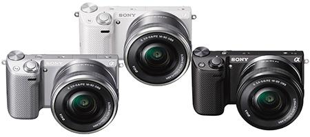 Sony NEX-5T - 3 barvy: černá, bílá a stříbřitá