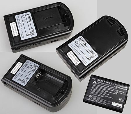 Canon WU10 - spodní část a Li-ion baterie