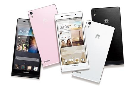 Huawei Ascend P6 - tři barevné varianty