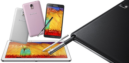 Samsung Galaxy Note 10.1 a Note 3