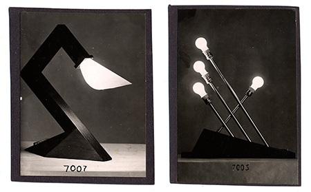 František Drtikol: Prototypy stolních lamp, kolem roku 1930; photo © František Drtikol — dědicové, 2013