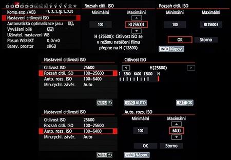 rozsah ekvivalentu obecné citlivosti ISO
