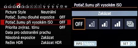 LCD - redukce šumu: funkce má standardní provedení