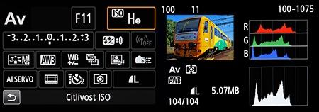 zobrazení na LCD