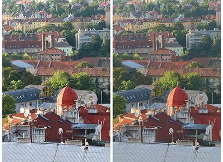 městská krajina IV - normal vs. HDRI