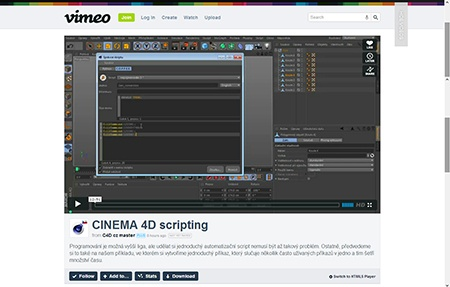 CINEMA 4D R15 – úvod do scriptování