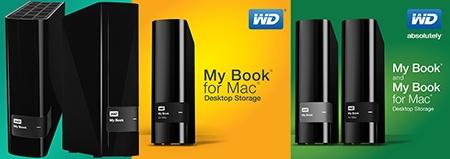 WD: nový design My Book a My Book for Mac; klikněte pro větší obrázek v novém okně