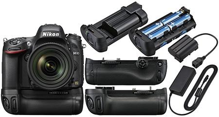 Nikon D610 - bateriové madlo a síťový adaptér