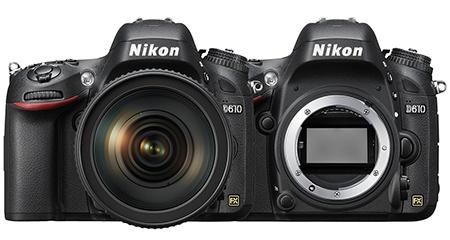 Nikon D610 - zepředu + bajonet