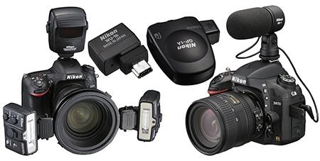 Nikon D610 - další příklady volitelného příslušenství