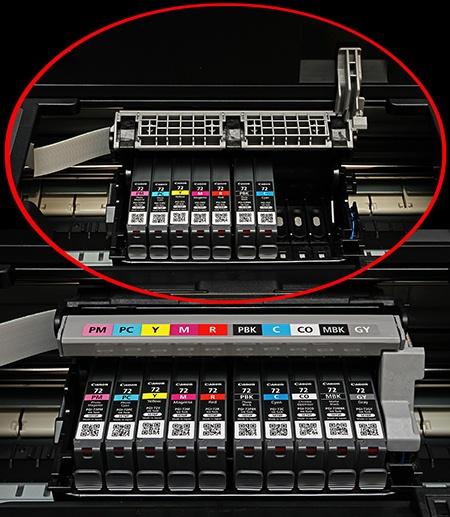 Canon PIXMA Pro-10 - postupná instalace všech deseti kazet