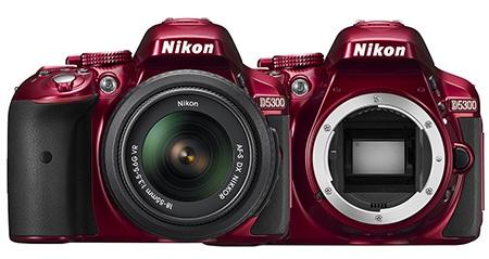 Nikon D5300 - zepředu a bez objektivu
