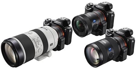 A7 a ukázky různých objektivů s bajonetem A via adaptér