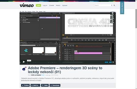 Video na Vimeo.com: Adobe Premiere – renderingem 3D scény I