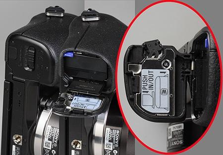 Sony Alfa NEX-7 - baterie a karta