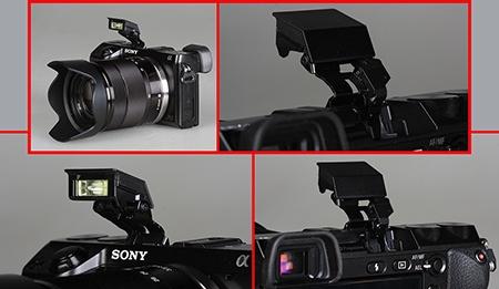 Sony Alfa NEX-7 - výklopný blesk