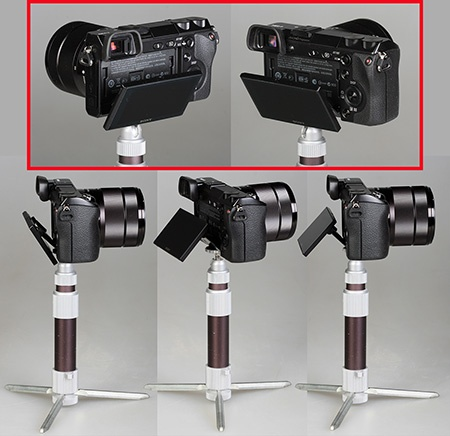 Sony Alfa NEX-7 - flexibilně použitelný výklopný displej