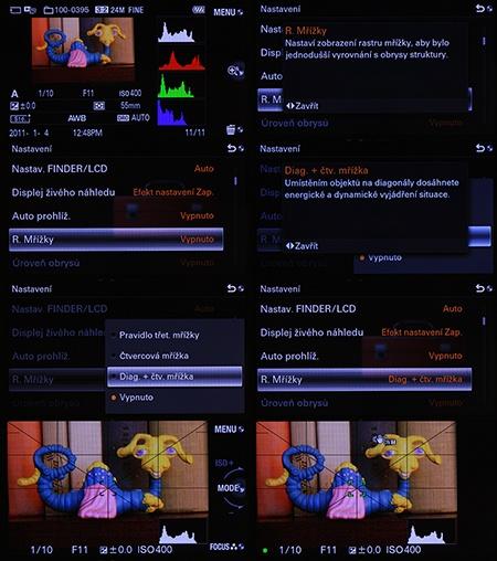 Sony Alfa NEX-7 - ukázky zobrazení na displeji
