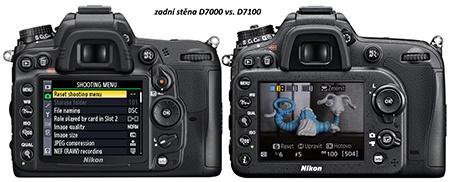 zadní stěny D7100 a D7000