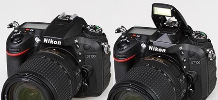 Nikon D7100 - výklopný blesk