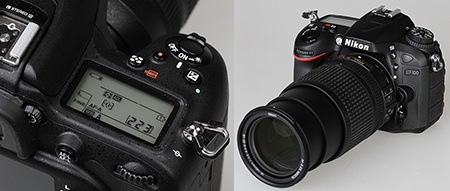 Nikon D7100 - pravá část se stavovým LCD a zoom AF-S Nikkor DX 18–140G ED VR