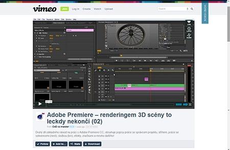 Video na Vimeo.com: Adobe Premiere – renderingem 3D scény to leckdy nekončí II