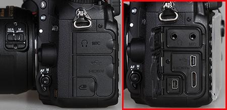 Nikon D610 - konektory