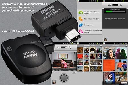 Nikon D600 a externí moduly Wi-Fi a GPS