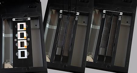 CanoScan 9000F Mk. II - adaptér pro slides v rámečcích a druhý pro pruhy kinofilmu