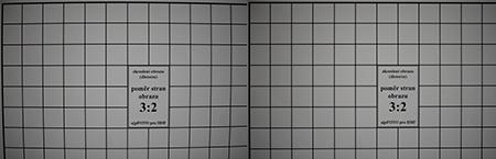 Nikon AF-S Nikkor 50 mm 1:1,4G - korekce zkreslení