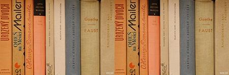 Lumix GH3 v testu - hřbety knih, různá citlivost